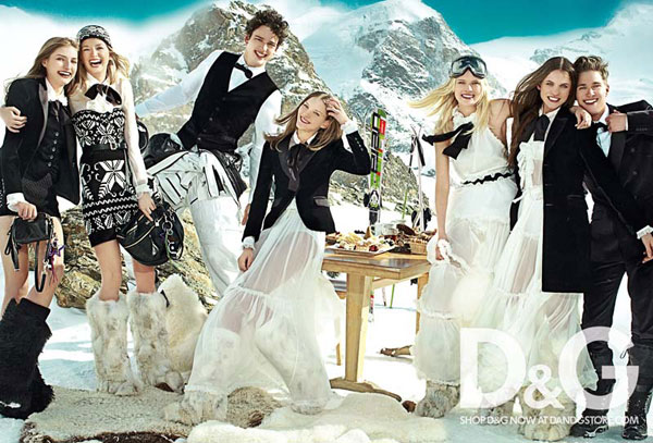 D&G Fall 2010 Campaign   Elena, Regina & Simona by Mario Testino