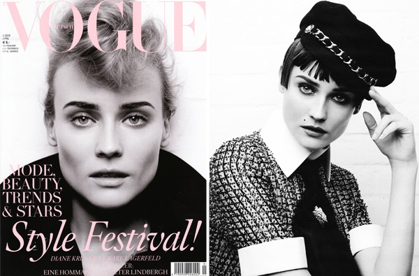 Diane Kruger by Karl Lagerfeld | Vogue Germany March 2010