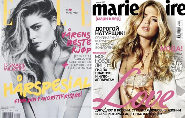 Doutzen Kroes April 2010 Covers | Elle Norway & Marie Claire Russia