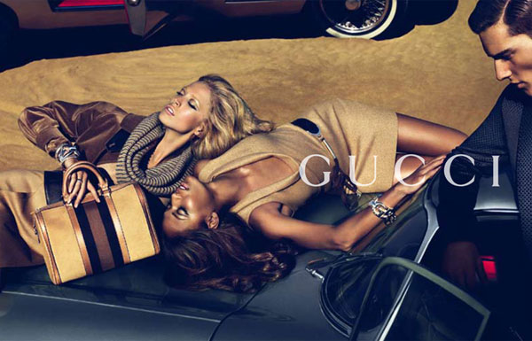 Gucci Pre-Fall 2010 Campaign Preview | Raquel Zimmermann & Joan Smalls