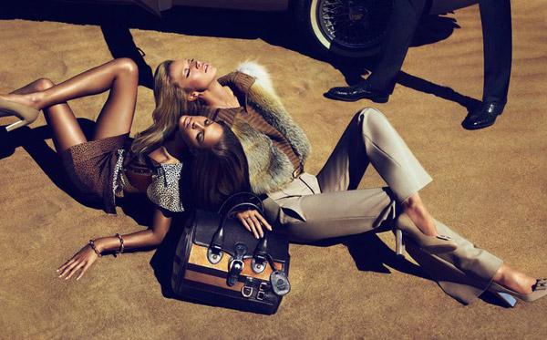 Gucci Pre-Fall 2010 Campaign | Raquel Zimmermann & Joan Smalls by Mert & Marcus