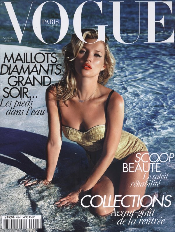 Vogue Paris June/July 2010 Cover | Kate Moss by Mario Sorrenti