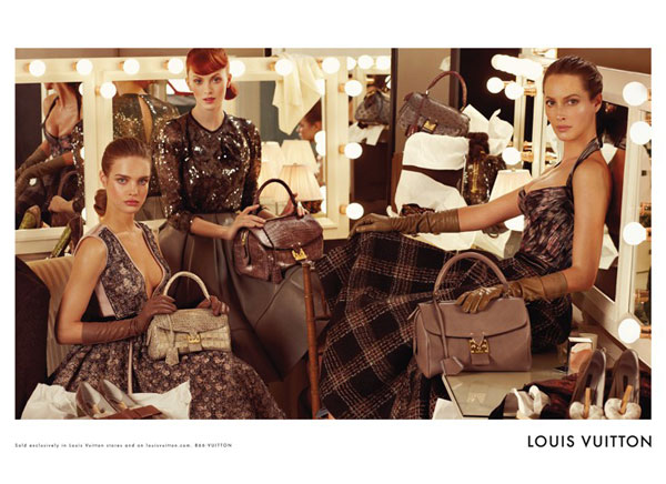 Louis Vuitton Fall 2010 Campaign Preview | Christy, Natalia & Karen by Steven Meisel