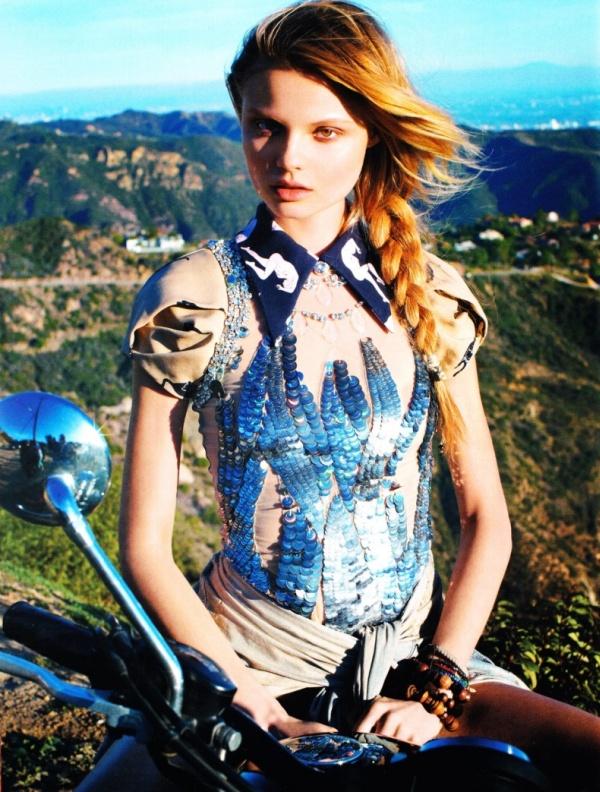 Magdalena Frackowiak by Horst Diekgerdes | Vogue Germany May 2010