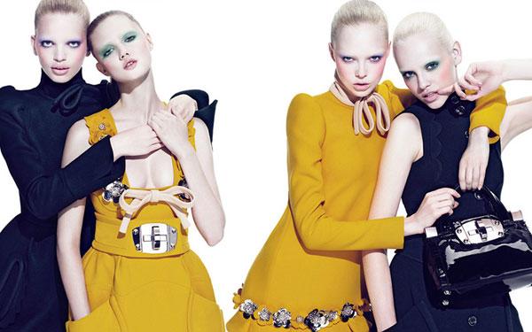 Miu Miu Fall 2010 Campaign | Lindsey, Siri, Ginta & Daphne by Mert & Marcus