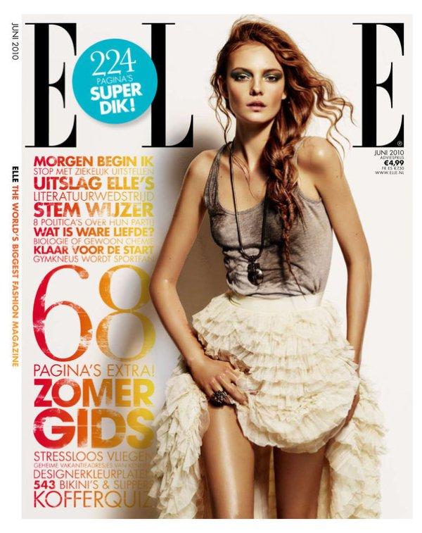 Elle Netherlands June 2010 Cover | Nimue Smit