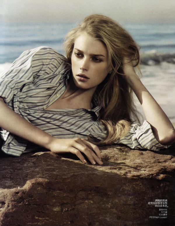 Sigrid Agren by Mark Segal | Vogue China April 2010
