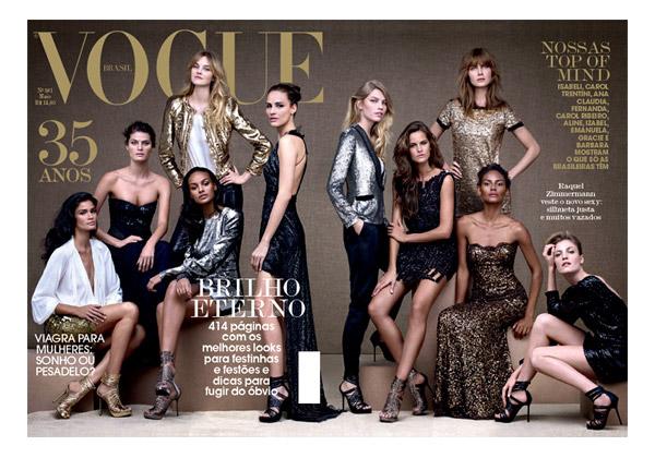Vogue Brazil May 2010 35th Anniversary Cover | Brazilian Models by Gui Paganini