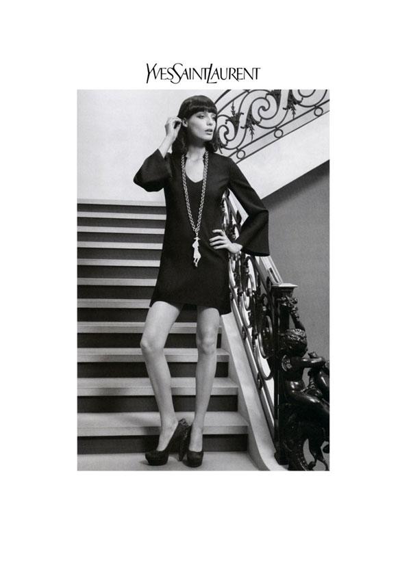 Yves Saint Laurent Fall 2010 Campaign | Daria Werbowy by Inez & Vinoodh