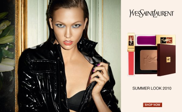 Karlie Kloss by Terry Richardson | YSL Beauty Summer 2010 Campaign