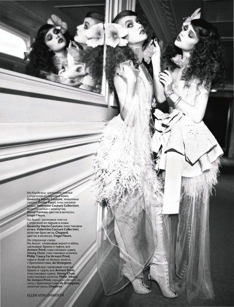 Anais Pouliot by Ellen von Unwerth for Vogue Russia April 2011