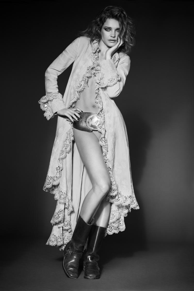 Natalia Vodianova in Ralph Lauren for Harper's Bazaar Russia April 2011