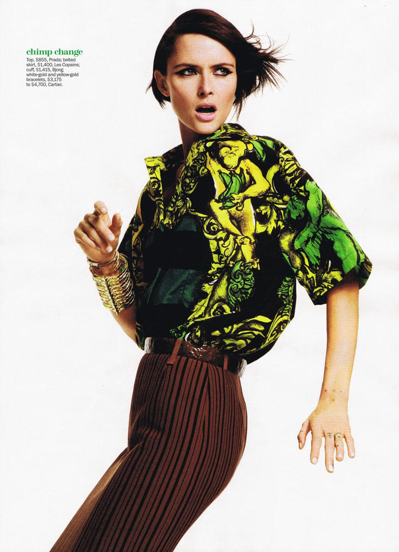 Tasha Tilberg by James Macari for Marie Claire US April 2011