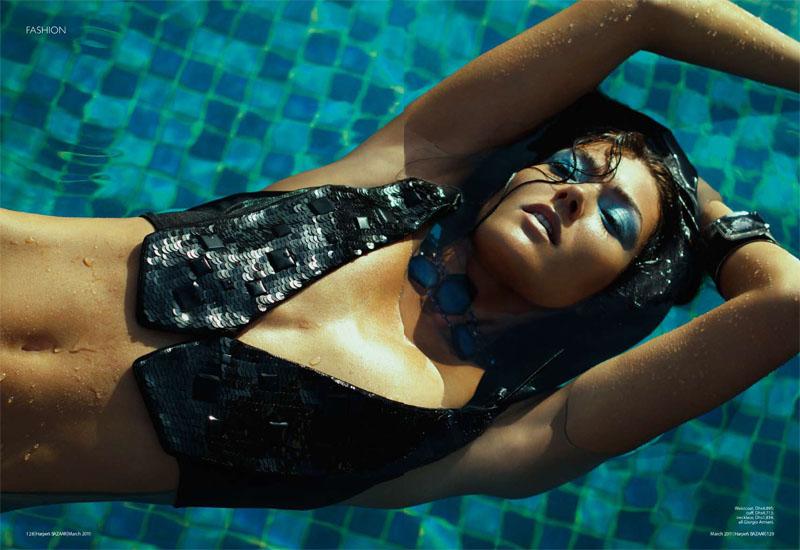 Vanessa in Giorgio Armani for Harper's Bazaar Arabia April 2011