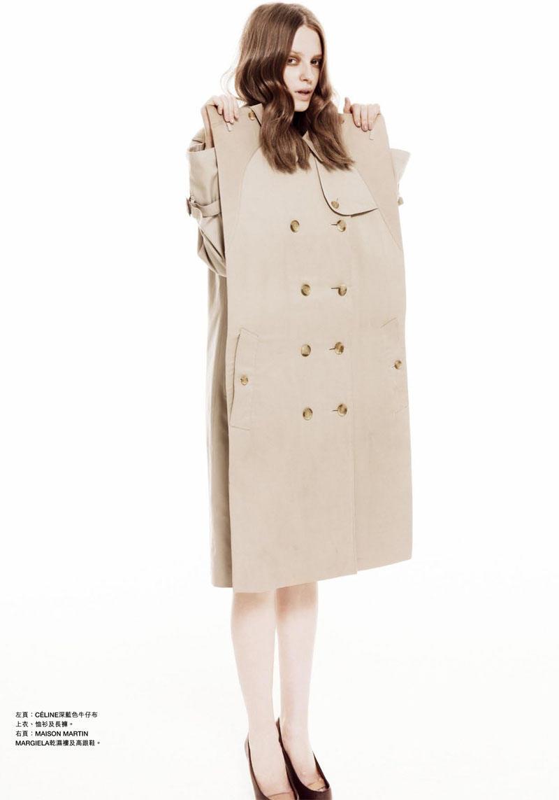 Anastasia Kuznetsova by Tina Luther for Harper's Bazaar Hong Kong