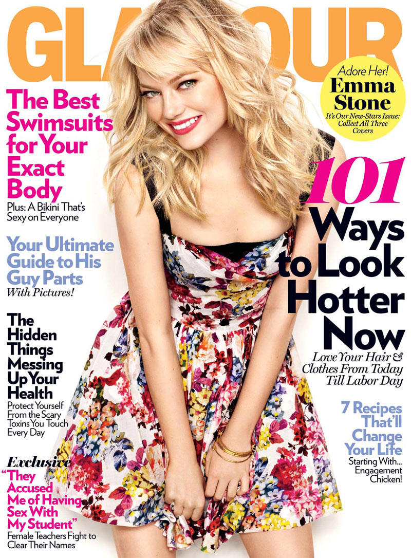 Emma Stone by Matthias Vriens-McGrath for Glamour May 2011