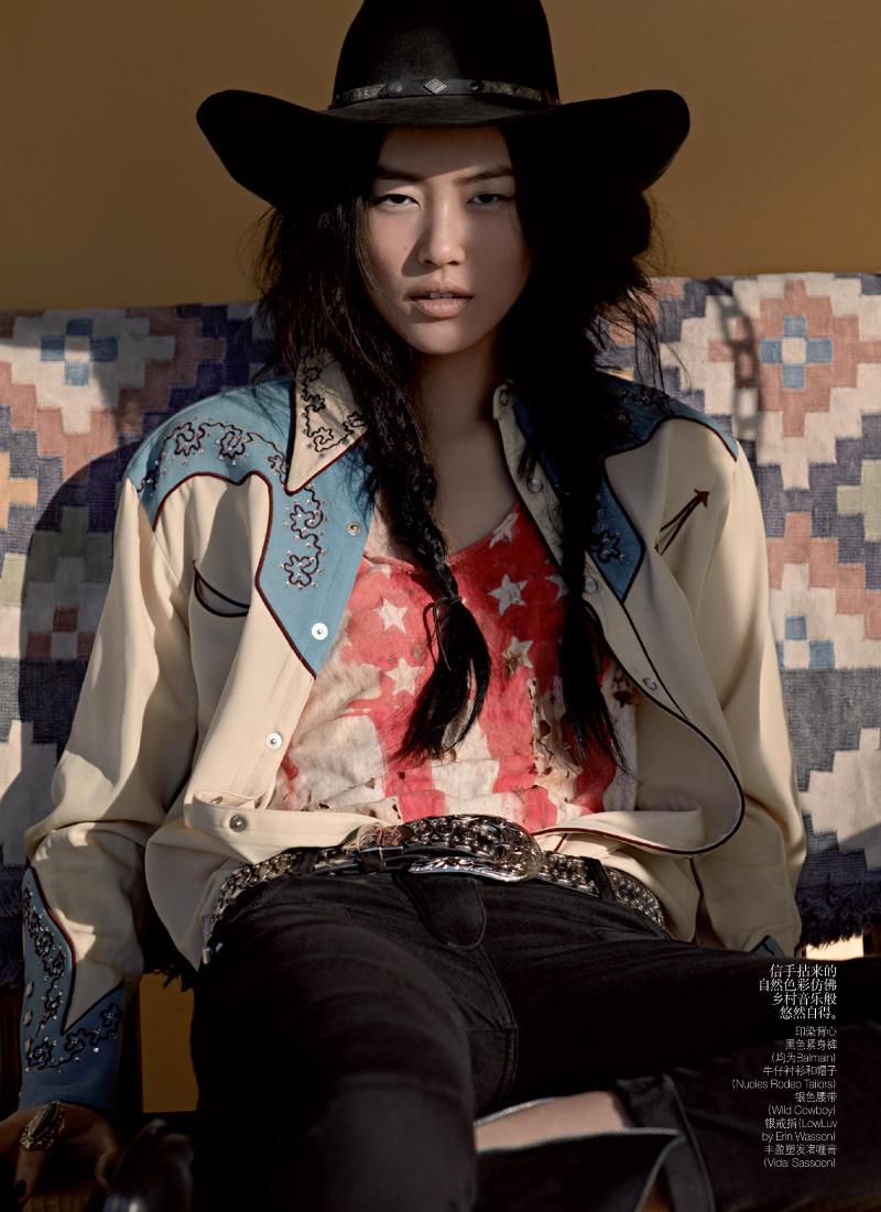 Liu Wen by Mark Segal for Vogue China May 2011