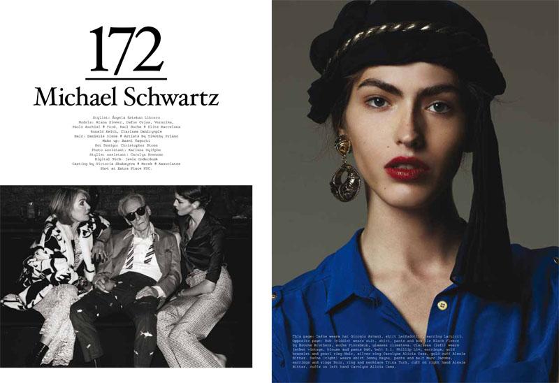 Alana Zimmer & Dafne Cejas by Michael Schwartz for Metal #23