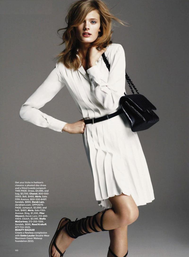 Constance Jablonski by Greg Kadel for Harper's Bazaar US May 2011