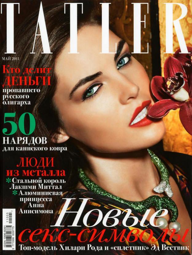 Hilary Rhoda by Regan Cameron for Tatler Russia May 2011