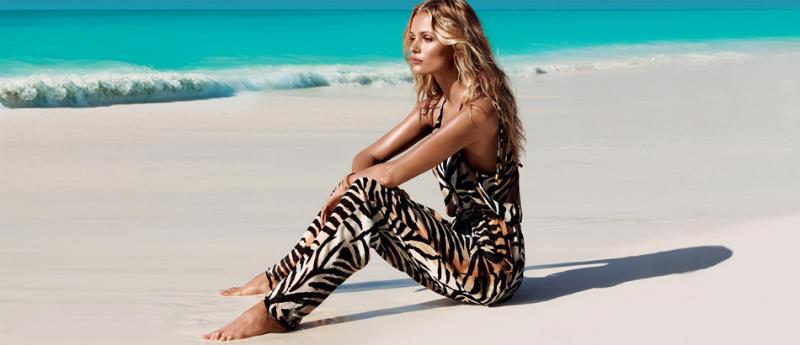 Edita Vilkeviciute & Frida Gustavsson for H&M Swimwear 2011 Campaign