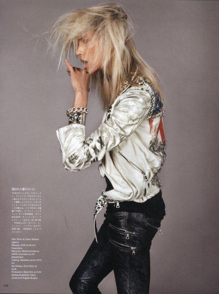 Anja Rubik by Josh Olins for Vogue Nippon June 2011