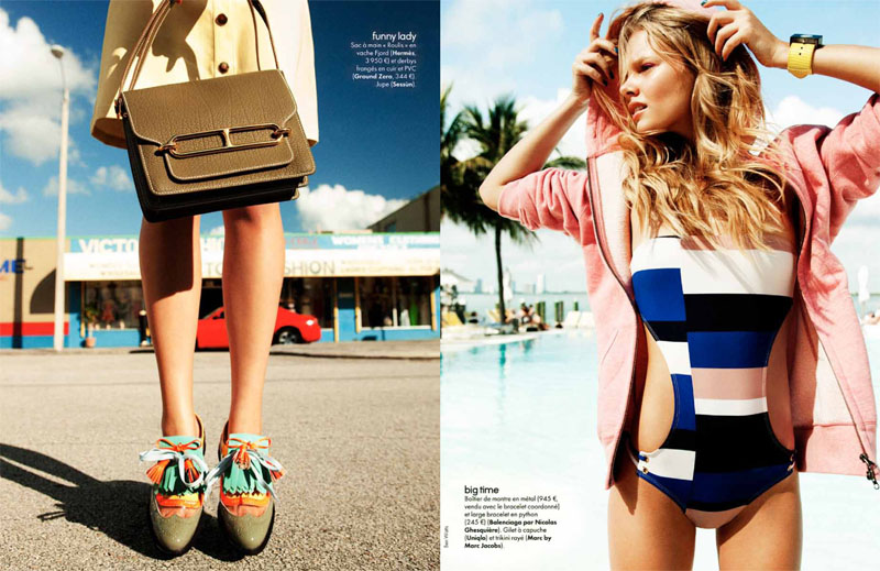 Marloes Horst for Elle France by Ben Watts