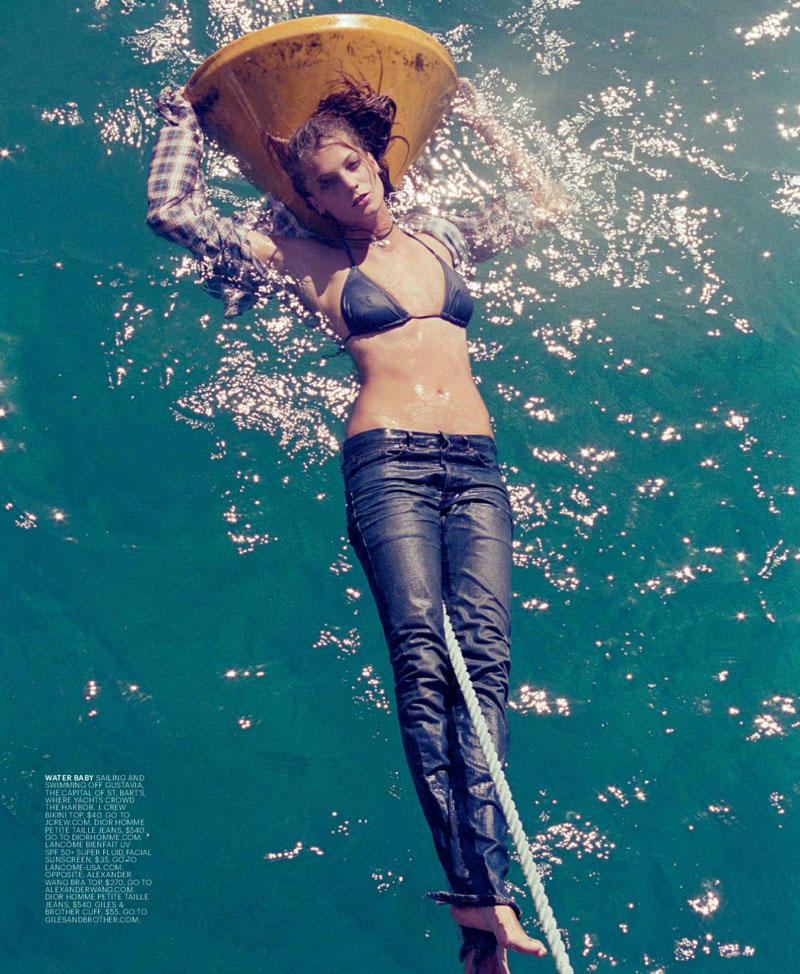 Daria Werbowy by Cass Bird for T Magazine Travel