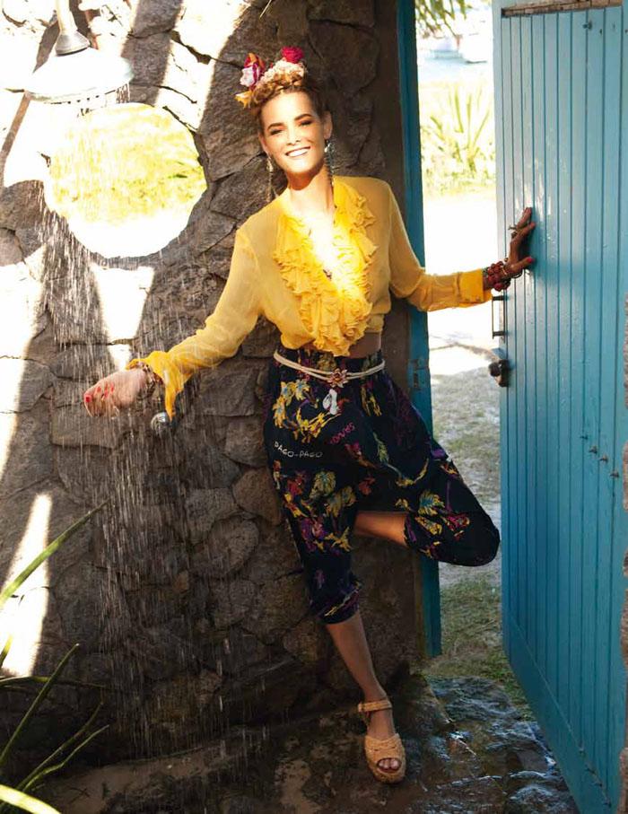 Flavia de Oliveira by Marcelo Krasilcic for Elle Italia June 2011
