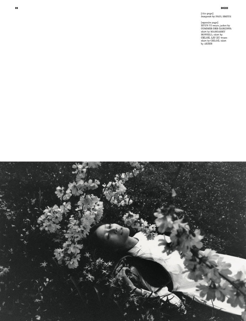 Liu Xu & Hyun Yi by Lina Scheynius for Dazed & Confused June 2011