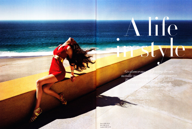 Alla Kostromicheva by Cédric Buchet for H&M Magazine Summer 2011