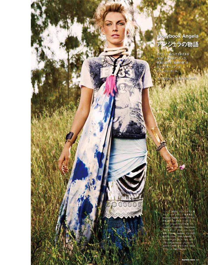 Angela Lindvall by Matthias Vriens-McGrath for Numéro Tokyo July/August 2011