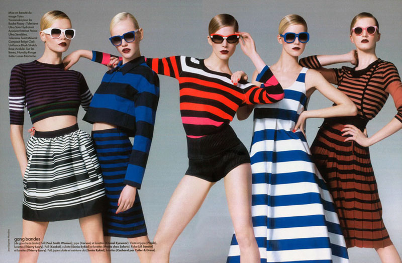 Natasha Poly, Iselin Steiro & Others by Jean-Baptiste Mondino for Elle France