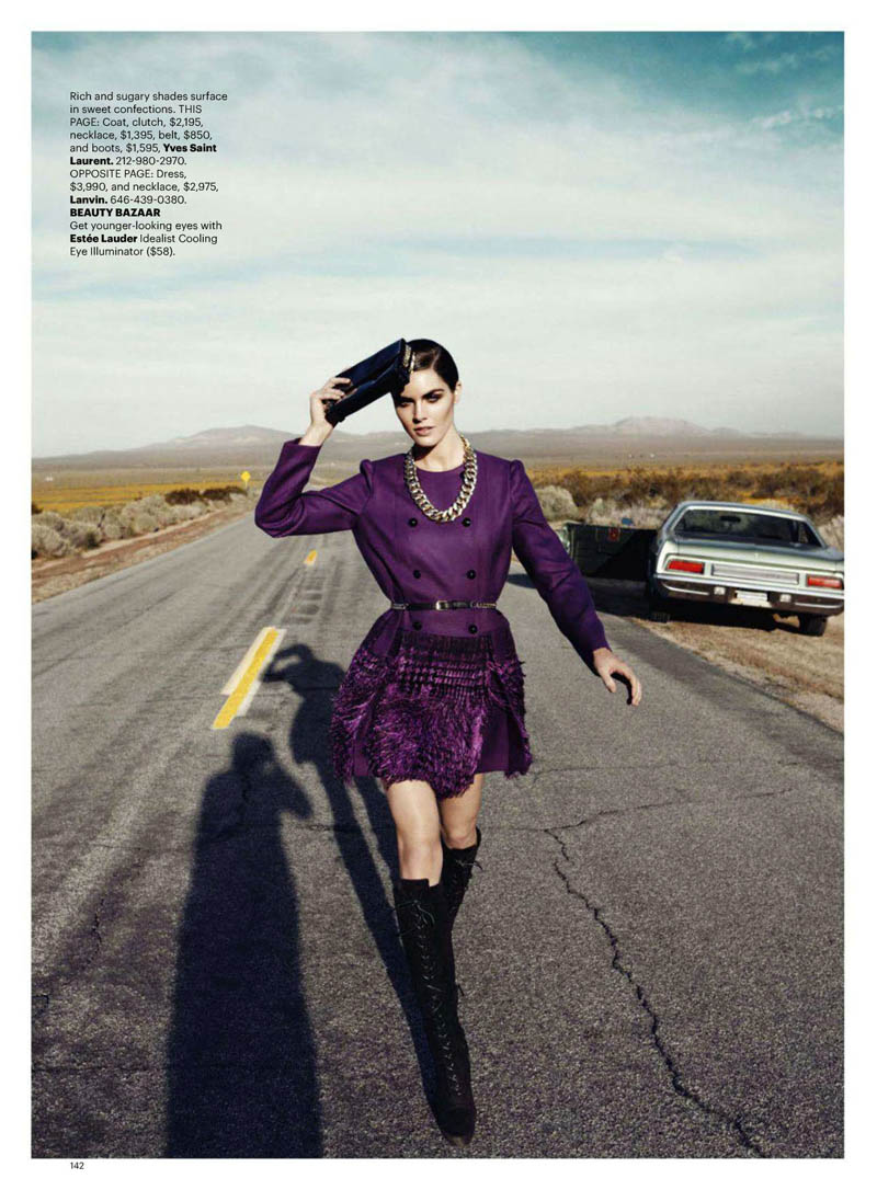 Hilary Rhoda by Lachlan Bailey for Harper's Bazaar US June/July 2011