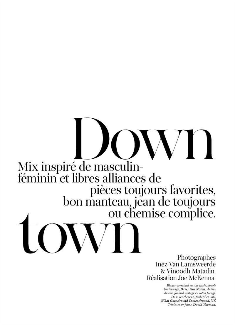Sasha Pivovarova by Inez & Vinoodh for Vogue Paris June/July 2011