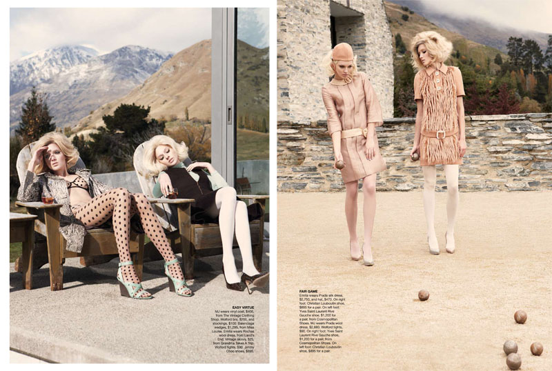 Emilia & Melissa by Nicole Bentley for Vogue Australia July 2011