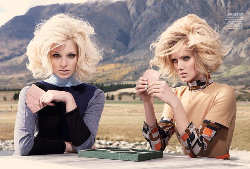 Emilia & Melissa by Nicole Bentley for Vogue Australia July 2011