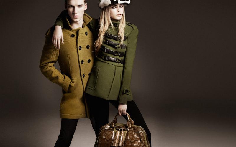 Jourdan Dunn & Cara Delevingne for Burberry Fall 2011 Campaign by Mario Testino