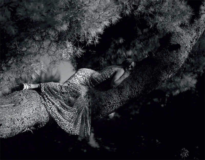 Carmen Jalving in Roberto Cavalli for Amica July 2011