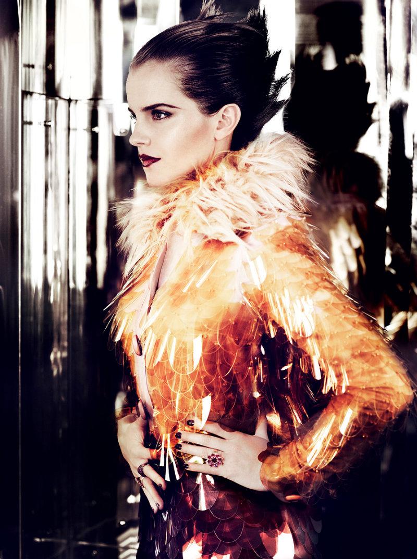 Emma Watson for Vogue US July 2011 by Mario Testino