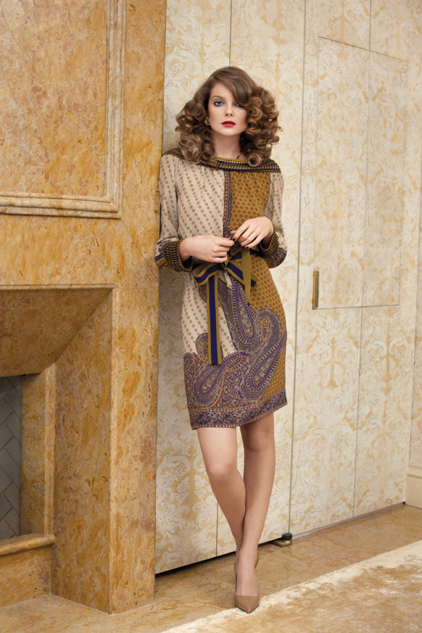 Eniko Mihalik by Max Farago for Bergdorf Goodman Pre-Fall 2011