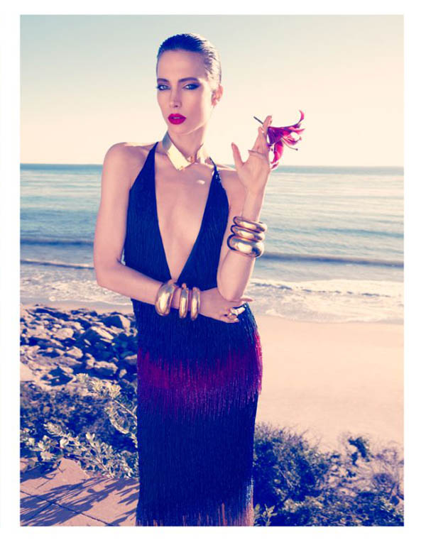 Jessica Miller by Camilla Akrans for Harper's Bazaar UK June 2011