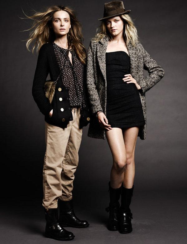 Snejana Onopka & Vlada Roslyakova for Set A/W 2011 Lookbook