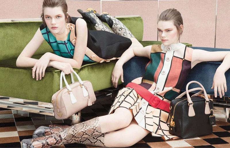 Prada Fall 2011 Campaign Preview   Frida Gustavsson, Kelly Mittendorf & Ondria Hardin by Steven Meisel