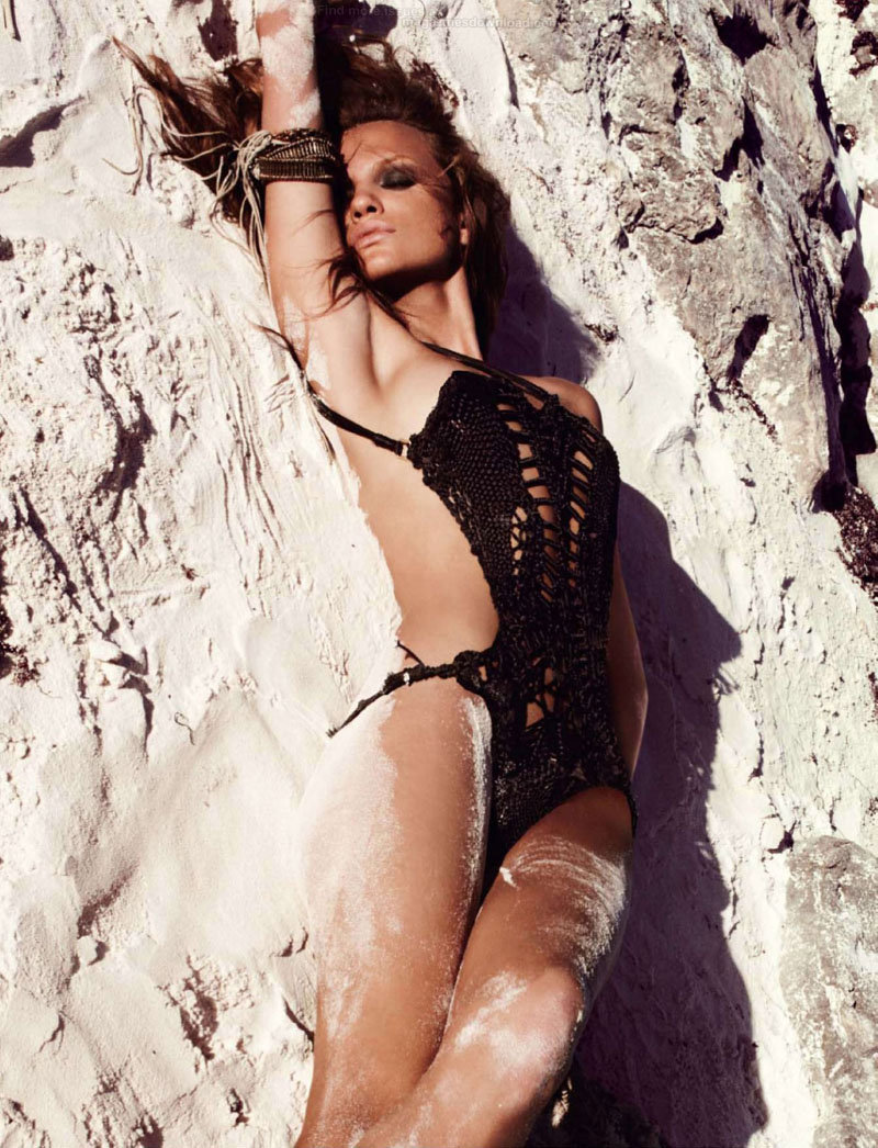 Regina Feoktistova delivered fierce poses for the July issue of Marie Claire Spain. / Photo by David Roemer