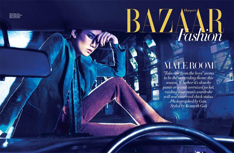 Tao Okamoto for Harper's Bazaar Singapore July 2011 by Gan
