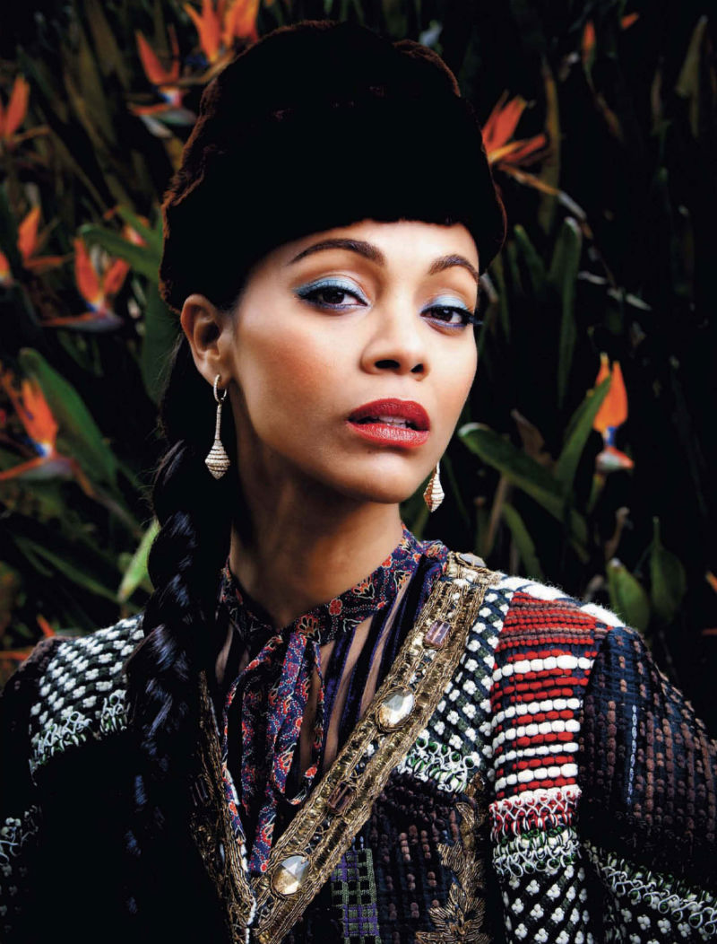 Zoe Saldana for Harper's Bazaar Russia July/August 2011 by Bleacher & Everard
