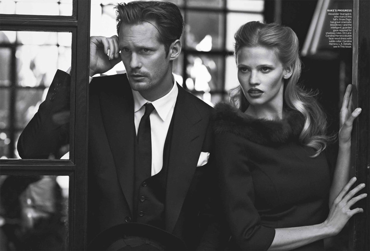 Lara Stone & Frida Gustavsson by Peter Lindbergh for Vogue US July 2011