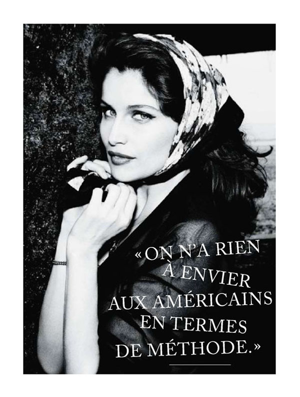 Laetitia Casta by Ellen von Unwerth for Glamour France July 2011