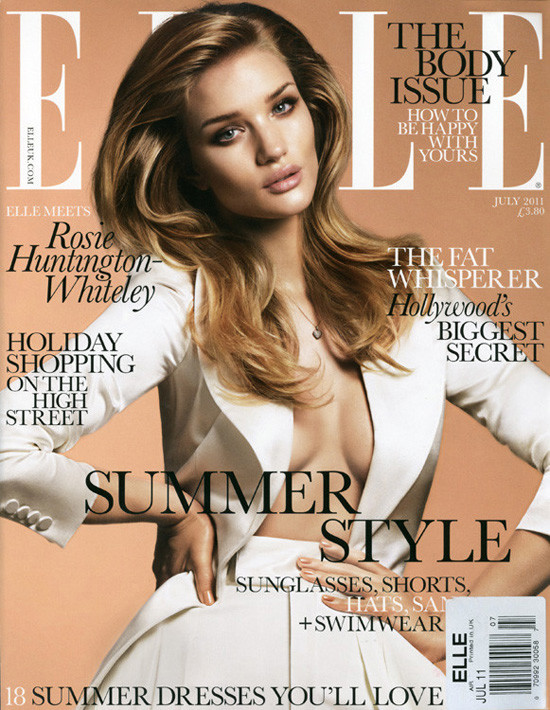 Rosie Huntington-Whiteley by Terry Tsiolis for Elle UK July 2011